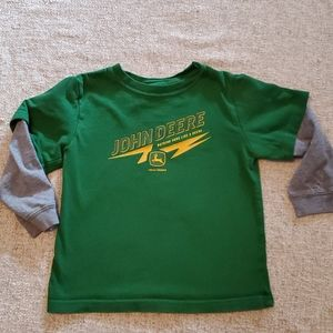 John Deere Shirts & Tops - John Deere Green long sleeve boys 4T